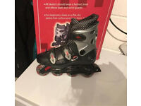 Roller skates/blades inline black, silver and red