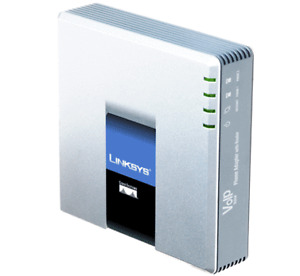 New Unlocked Linksys SPA2102 VoIP Adapter ATA 2-LineUp for sal