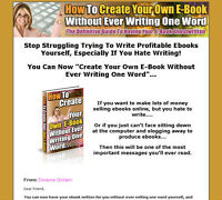 How to create your own e-book without every righting one word.