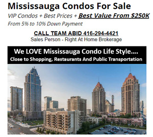 Mississauga Condos For Sale Best Prices From $250,000