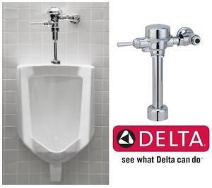 NEW DELTA EXPOSED FLUSH VALVE CHROME - Urinal Toilet Flush Valves   Contractor Supply WASHROOM BATHROOM 104036057