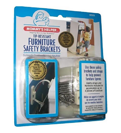 Mommy's Helper Tip-Resistant Furniture Safety Brackets