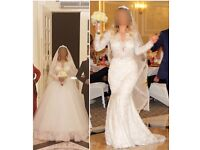 WEDDING DRESS / HAND STICHED / 2 IN 1 DRESS / GREAT CONDITION / Originally £3000