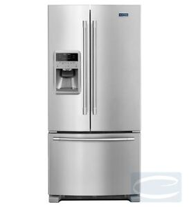 """33"""" Maytag 22 Cu. Ft. French Door Refrigerator with Beverage Chi"""