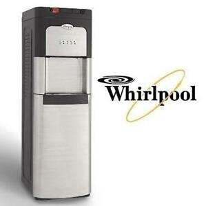 NEW WHIRLPOOL WATER COOLER 8LIECH-SC-SSS-5L-W-09 225106948 STAINLESS STEEL BOTTOM LOAD COOLER WITH LED INDICATORS