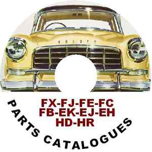 HOLDEN FJ FE FC FB EK EJ EH HD HR FACTORY PARTS CATALOGUE CDROM