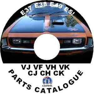 CHRYSLER-VALIANT-CHARGER-REGAL-FACTORY-PARTS-CATALOGUE-VJ-VH-VF-VK-CJ-CH-CK