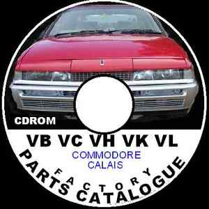 HOLDEN VB VC VH VK VL VN VP Commodore Factory Parts Restoration Catalogue CD