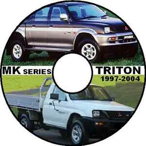 MITSUBISHI L200 MK TRITON 2WD-4WD UTE WORKSHOP MANUAL