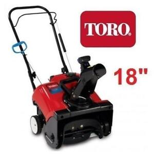 """NEW TORO GAS SNOW BLOWER 18"""" 38472 213970200 THROWER 99CC 1 STAGE RECOIL START Power Clear 518 ZR"""