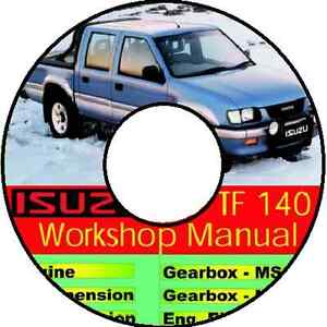 ISUZU HOLDEN RODEO 1988-2002 TF 140 WORKSHOP MANUAL CDROM