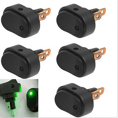 5pcs 12v 30amp 30a Heavy Duty Green Led Offon Rocker Switch Car Boat Marine
