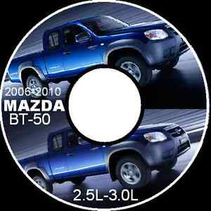 MAZDA BT50  BT-50  2.5L 3.0L Deisel 2006-2007-2008-2010 WORKSHOP MANUAL CDROM