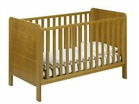 John Lewis Solid Wood Cotbed / Cot (Convertible), Brand New