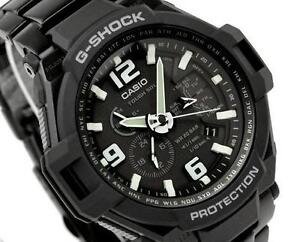 CASIO-G-SHOCK-GRAVITY-DEFIER-STEEL-BAND-SOLAR-ALL-BLACK-G1400D-G-1400D-1A