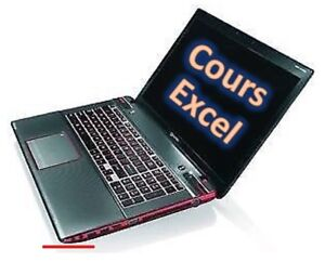 Excel: Private Courses axed on the Exercices (3 levels,130$)
