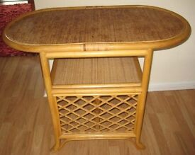 Attractive Bamboo/Rattan Conservatory Table.