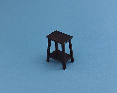 NICE 1:12 Scale Dollhouse Miniature Walnut End Table/Plant Stand