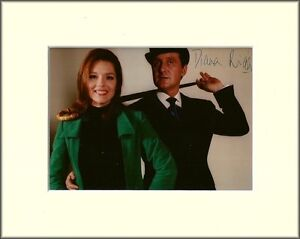 DIANA RIGG THE AVENGERS EMMA PEEL PP MOUNTED 8X10 SIGNED AUTOGRAPH PHOTO