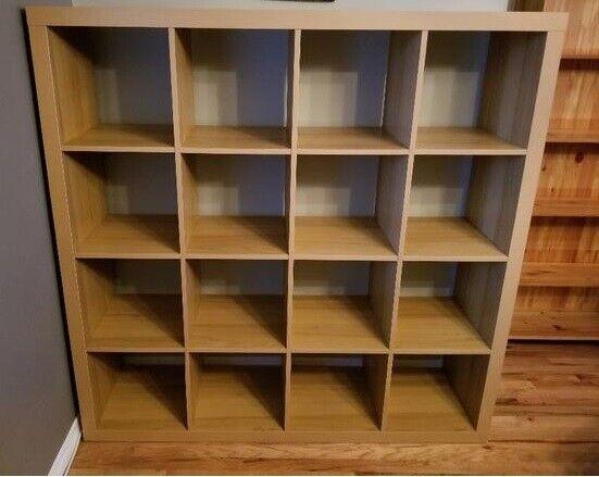 big sale c4c54 3ddb5 Oak Effect IKEA KALLAX (4 x 4 squares) shelving & storage unit - I can  deliver | in Walthamstow, London | Gumtree