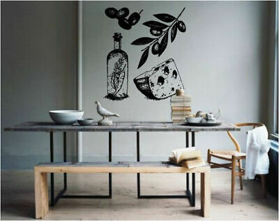 Wall Decal Room Sticker kitchen decor cheese olive italian food healthy bo3067 ()