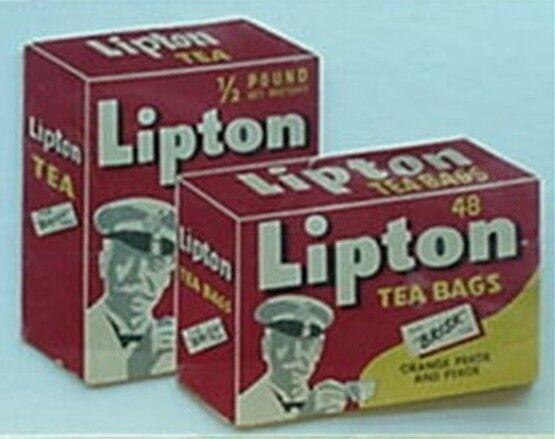 1960s LIPTON TEA BAGS NEEDLE FOLDER