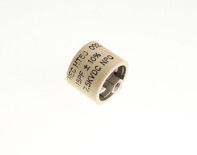 15pf 7500v Ceramic Transmitting Doorknob Capacitor 7.5kv Dc 7500 Volts Ht50