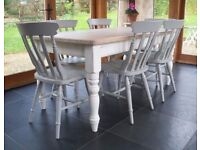 *** SHABBY CHIC DINING SET COMMISSIONED JUST FOR YOU – TO YOUR EXACT SPECIFICATION! ***