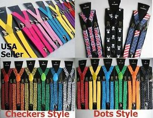 All-colors-Mens-Womens-Clip-on-Suspenders-Elastic-Y-Shape-Adjustable-Braces
