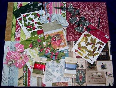 ANNA GRIFFIN SEASONAL PAPER KIT - NEW - OVER 110 PIECES - CLEARANCE- BUY IT NOW