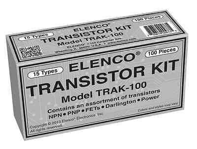 Elenco Trak-100 Transistor Kit 100 Pieces 15 Types Packed In An Organizer Box