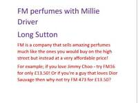 FM perfume/aftershave.. designer perfume for only £13.50!