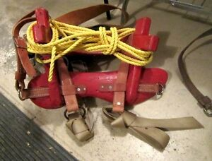 Used pack saddle with rigging - red sawbuck