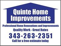 QUINTE HOME IMPROVEMENTS - QUALITY WORKMANSHIP - GREAT RATES
