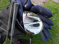 Lovely set of Maxfli Revolution clubs, King Cobra driver and Adams 7 wood, Ogio bag, excellent
