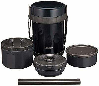 NEW ZOJIRUSHI Stainless Thermos Food Jar Lunch Box Navy Black SL-GG18-BD F/S