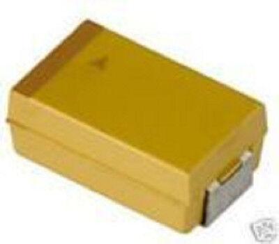 50pcs 100uf 10 Volt 20 D Case Smd Tantalum