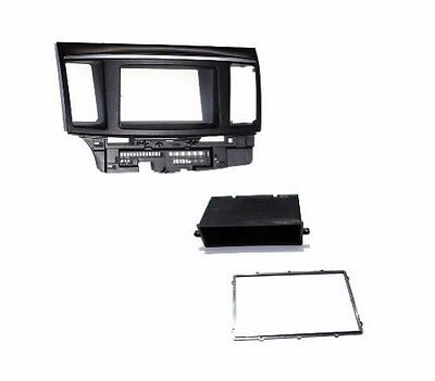 Double Single Din Dash Radio Stereo Install Pocket Kit fits Mitsibishi Lancer (Double Din Pocket Kit)