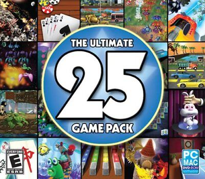 THE ULTIMATE 25 GAME PACK JEWEL CASE- NEW PC Game (SF-0087 / SF-58)