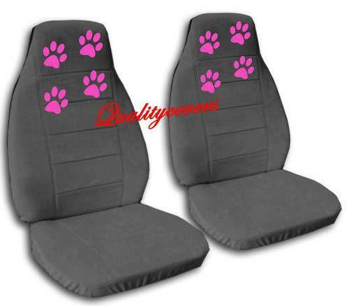 Paw Print Car Seat Cover Set