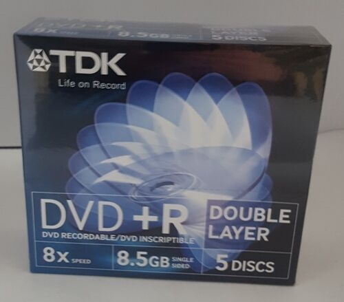 TDK DVD+R Double Layer 5 Pack in Jewel Cases