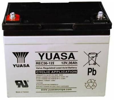 YUASA  AGM 12V 36Ah (36+ Holes) Golf Trolley Battery, Mocad Hillbilly Powakaddy