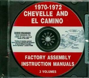 FACTORY ASSEMBLY INSTRUCTION MANUALS CHEVELLE AND EL CAMINO 1970