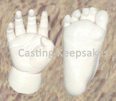 Luna Bean CHILD CASTING KIT Foot or Hand Molds Toddler Pet Molding Cast - Glaze