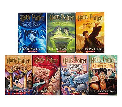 Harry Potter Books 1-7 by J. K. Rowling (Paperback) - Good Condition