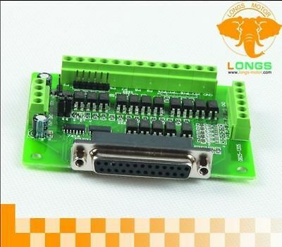6axis Db25 Breakout Board Interface Adaptercable Stepper Motor Cnc Longs Motor