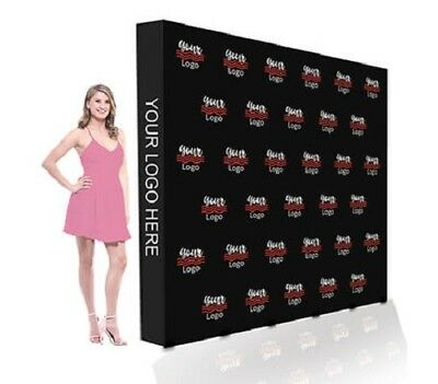 8x8 Step Repeat Fabric Backdrop Pop Up Straight Display Stand Tradeshow Booth