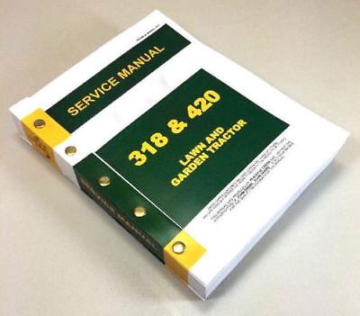 Service Manual For John Deere 318 420 Lawn Garden Tractor Technical Repair Mower