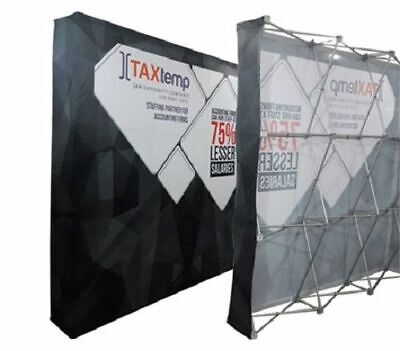 10 Velrco Tension Fabric Trade Show Pop-up Display Booth Frame Stand Free Case