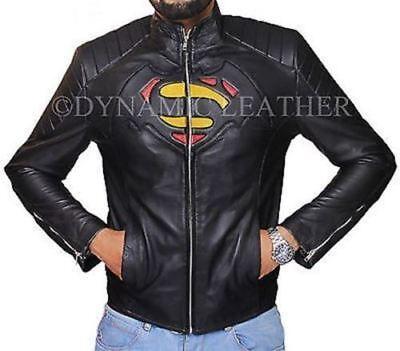 Herren Dawn of Gerechtigkeit Superman vs Batman Kostüm Lederjacke
